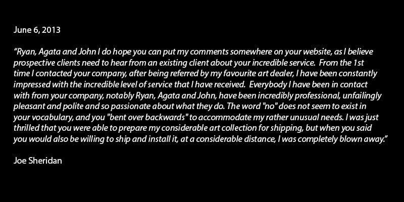 Joe Sheridan Testimonial